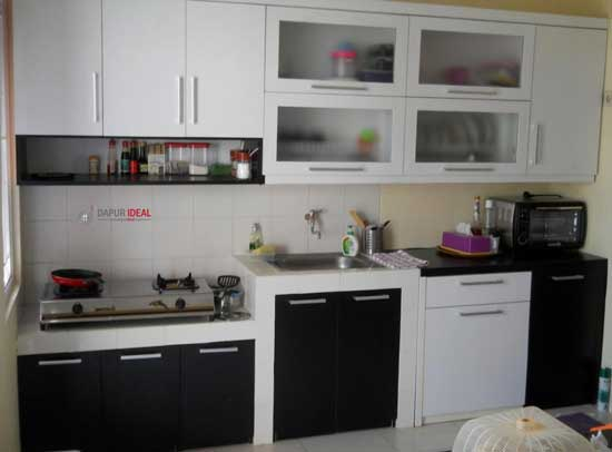 Warna ideal dapur kecil Minimalis